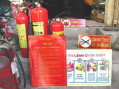 Bộ nội quy tiêu lệnh và bình chữa cháy