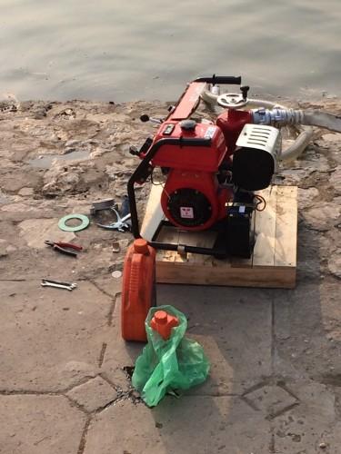 Máy bơm Tohatsu được bảo dưỡng và vận hành thử