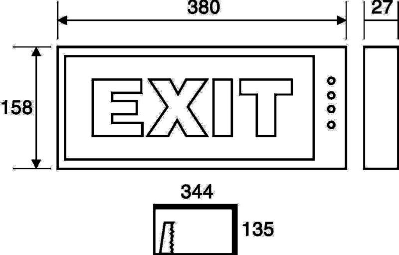 Thông số kỹ thuật Đèn Exit chỉ dẫn Paragon PEXA13RW (ET 201)