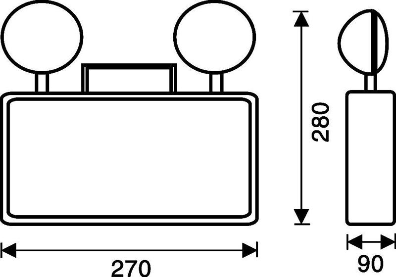 Thông số kỹ thuật Đèn sự cố thoát hiểm Paragon PEMC210SW