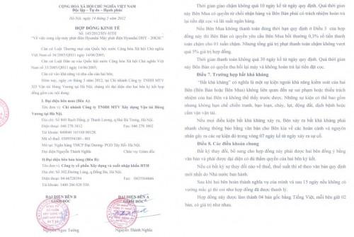 Hợp đồng ký kết thành công với công ty vận tải Hùng Vương