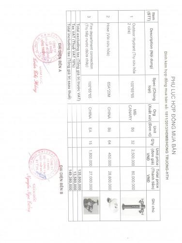 Phụ lục hợp đồng SamSung Thái Nguyên