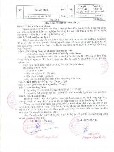 Hợp đồng ký kết với bệnh viện Thanh Nhàn